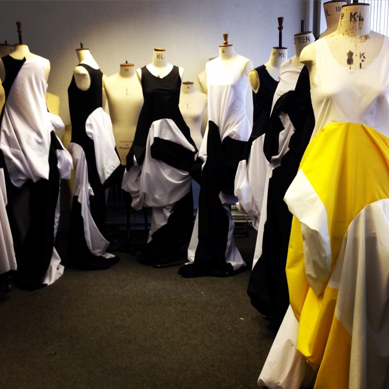 All students were given the exact same instructions and fabrics. Look how different the dresses all turned out !