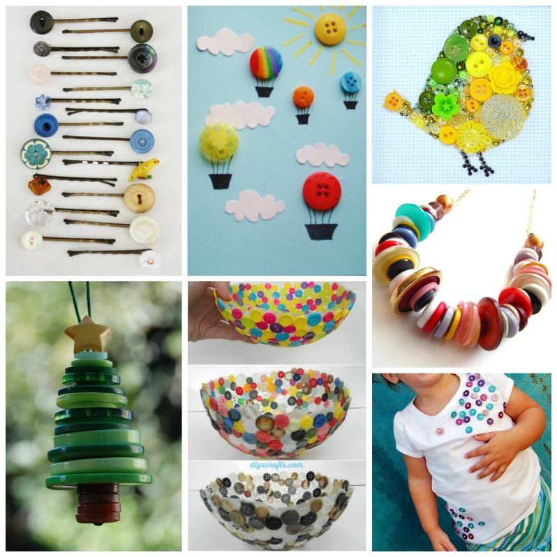 Button Crafts - what to make with buttons