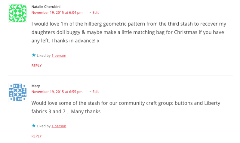 Comments Fabric