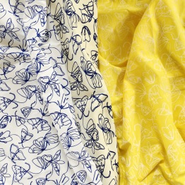 screen printed organic poplin