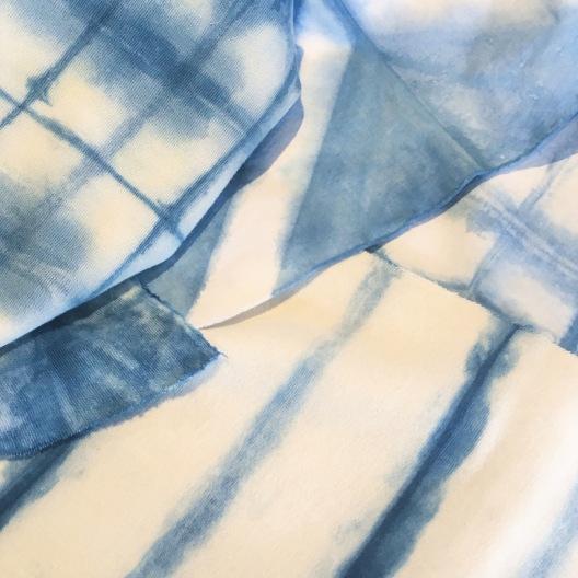 indigo dyed organic jersey