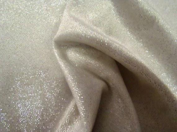 Silver Sparkle Spandex Velvet Fabric