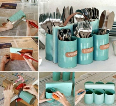 Upcycled-Tin-Can-Cutlery-Caddy-