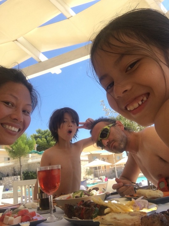Poolside lunch at Mabely Grand Hotel, Zakynthos