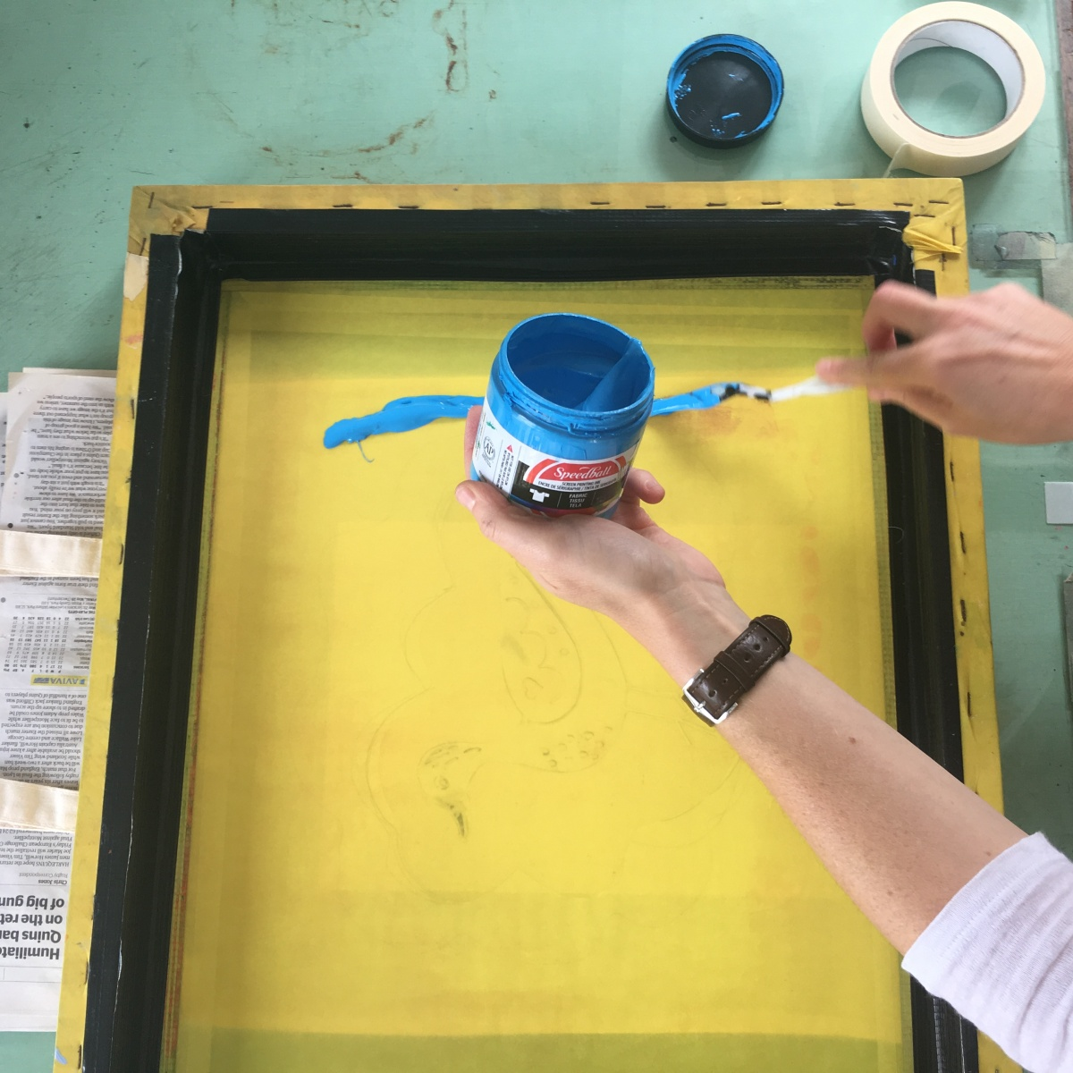 Screen Printing with Kathy Hutton