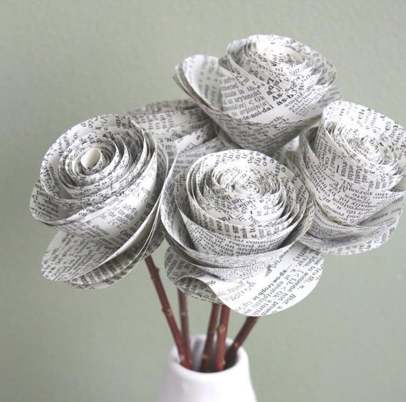 newspaper-roses