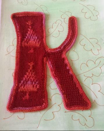knitting - #letterartchallenge