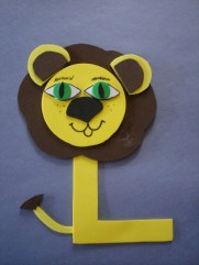 L for Lion - Letter Art Challenge