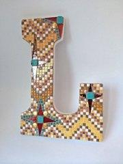 Mosaic L - Letter Art Challenge