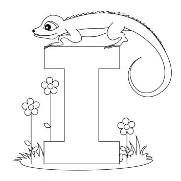 printable-animal-alphabet-letter-i-for-iguana