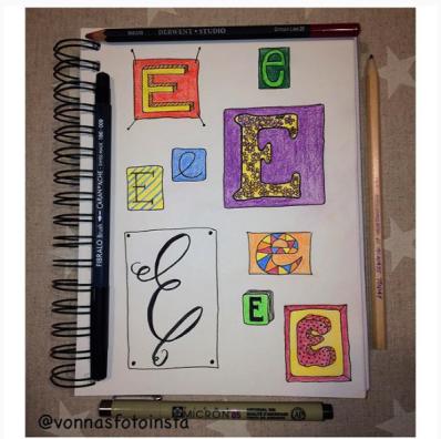 Letter Art Challenge - @vonnasfotoinsta