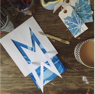 Letter Art Challenge - @kathyhuttonprints